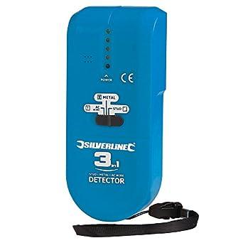 Silverline 477936 - Multidetector compacto 3 en 1 (1 pila 9 V (PP3)): Amazon.es: Amazon.es