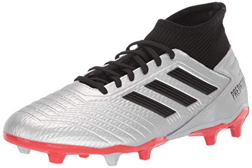 ec6a61efa0e9 adidas Men's Predator 19.3 Firm Ground Soccer Shoe, Silver  Metallic/Black/hi-res red, 6.5 M US