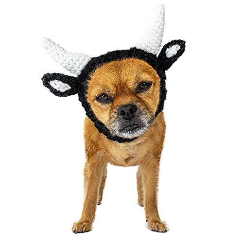Zoo Snoods Bull Dog Costume - Neck and Ear Warmer Snood for Pets (Small) -
