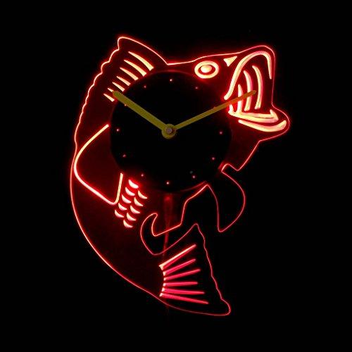 Man Cave Illuminated Signs : Cnc b bass fish man cave room illuminated edge lit bar