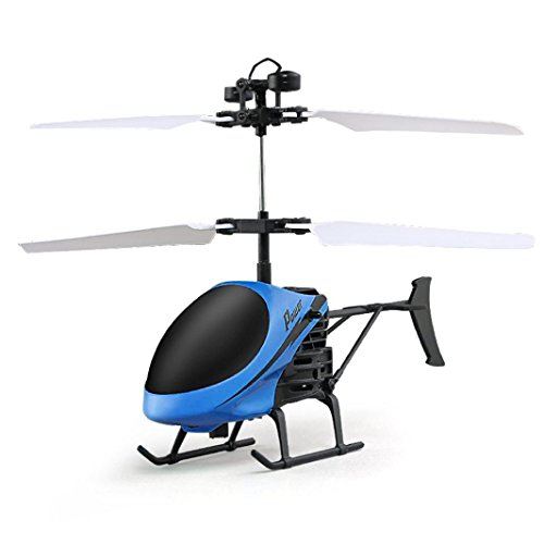 Drone, Kingspinner Flying Mini RC Infraed Induction Helicopter Aircraft Flashing Light Toys For Kid,Flight Time: Approx. 6-8 Minutes,Auto Start Induction