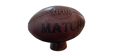 Ram Patrimonio de Cuero Vintage Pelota de Rugby y Soporte Rugby ...
