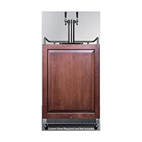 Summit 6.5 Cu. Ft. Undercounter Beer Dispenser, Built-In Use, No-Frost, Digital Thermostat, Lot of 1