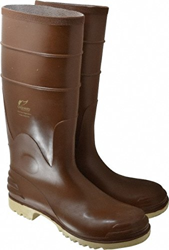 Bata Shoe 84076-10 Onguard Industries Size 10 Polymax Ultra Brown 16'' PVC Knee Boots With Ultragrip Sipe Outsole, Steel Toe And Removable Insole, English, 15.34 fl. oz, Plastic, 16'' x 10'' x 1''