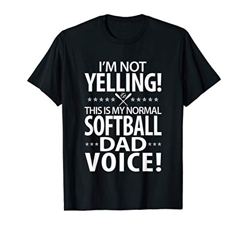 Mens Softball Dad - Funny Dad Birthday Gifts T-Shirt
