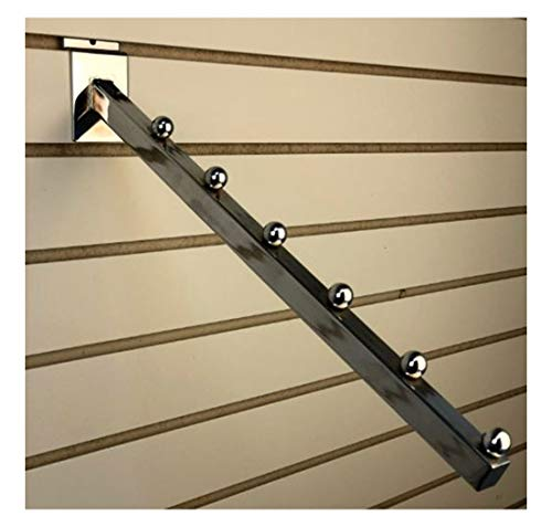 Waterfall Square Tube 6 Ball for Slatwall Chrome 16