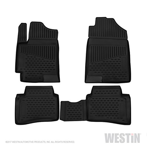 Westin 74-17-51053 Profile Custom Fit Floor Liners Front & 2nd Row fits Hyundai Solaris 2017-2018 All Weather Waterproof Heavy Duty Floor Mat