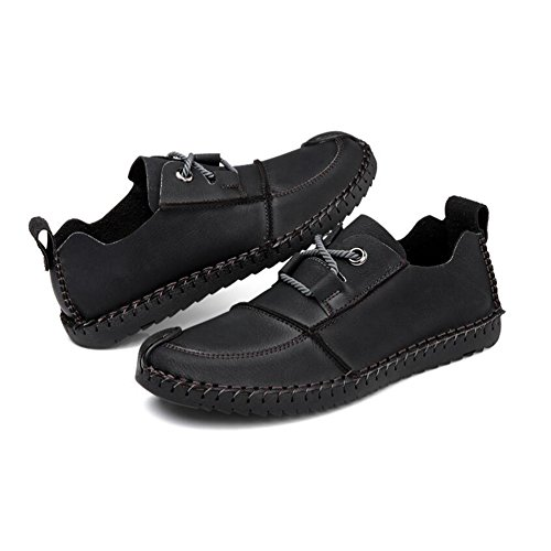 Scarpe Dermis Comfort Soft in Shoes Black Pelle Driving Casual Uomo Stagioni Fashion EXHxXwYqrn