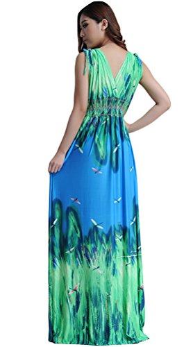 Voguees - Vestido - corte imperio - para mujer Verde
