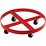 600 Lb. Capacity Drum Dolly for 55 Gallon Drum - Rubber Wheels