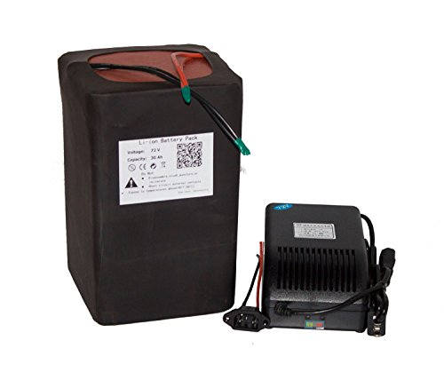 72v 30AH Lithium Li-ion Battery Pack for Electric Bicycle With 5A Charger Used for 3500w Scooter Hub Ebike Kit by Btrbattery