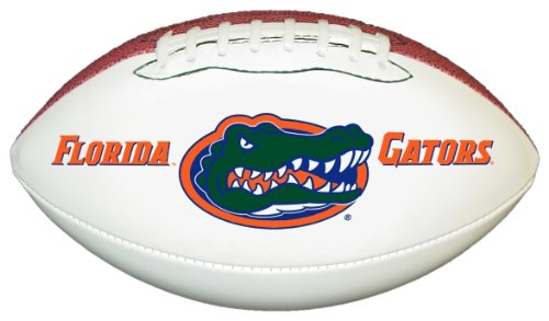 NCAA Florida Gators Official Size Synthetic Leather Autograph Football