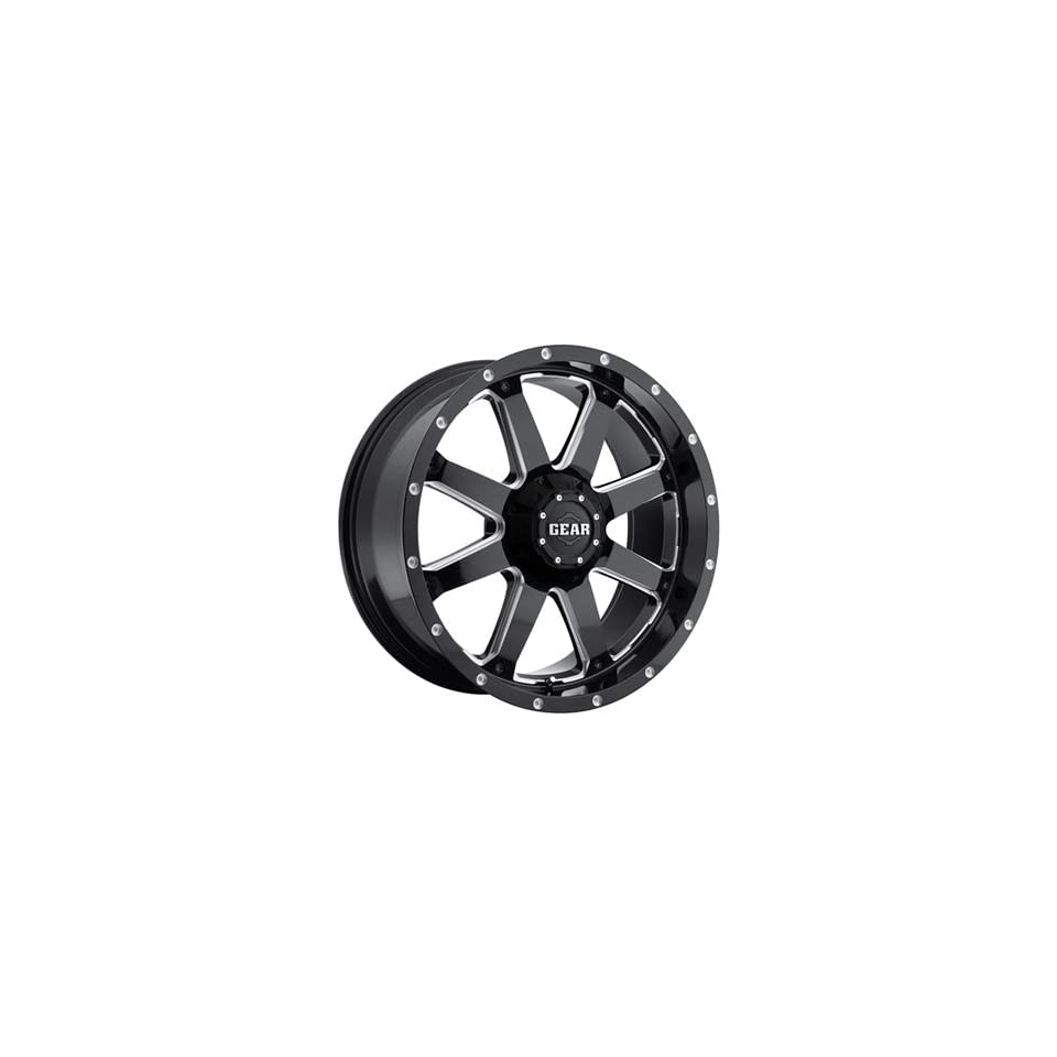 Gear Alloy Big Block 18 Black Wheel / Rim 5x5 & 5x5.5 with a  12mm Offset and a 78 Hub Bore. Partnumber 726MB 8900912 Automotive