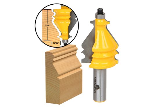 Yonico 16135 Architectural Molding Router Bit 12-Inch Shank