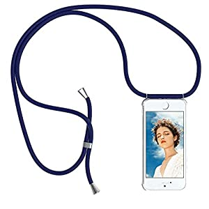 YuhooTech Collier pour iPhone 5 / 5S / Se Coque, étui de téléphone avec Cordon – Tour de Cou Lanière en Corde – Housse…