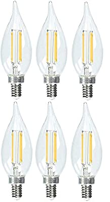 Feit Dimmable LED Clear Chandelier 2700K Soft White 6-Pack (40W Replacement) 3.3W