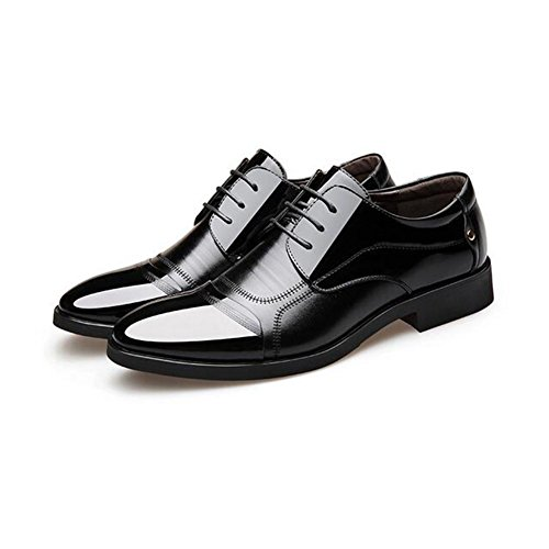 Black Office 38 Career Black HUAN amp; Men's Shoes Formal Size Wedding Shoes Dress Brown Color XZqRwz