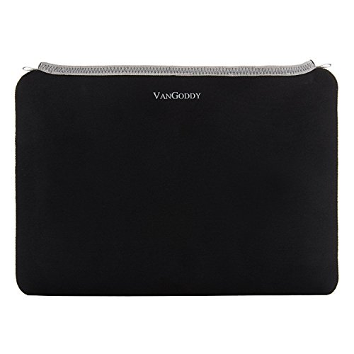 ECCRIS 9.7, 10.1, 11.6, 12.1, 13.3, 14, 15.6 Inch Universal Neoprene Smart Sleeve, Laptop, Tablet Carrying Bag for Apple MacBook Pro, Apple iPad Air, 2 Black, Gray Trim, 10 inch