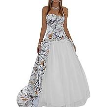 MILANO BRIDE 2017 Strapless Ball Gown Camo Wedding Dress Prom Dresses