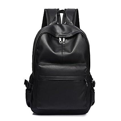 KEROUSIDEN Hombro Jóvenes Estudiantes Universitarios mochilas escolares moda masculina hombres la mochila del flujo Pu 30