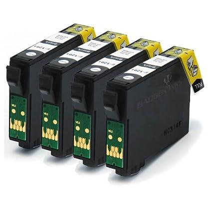 E-1291/T1291 X4 negro compatible Impresora Cartuchos de tinta ...