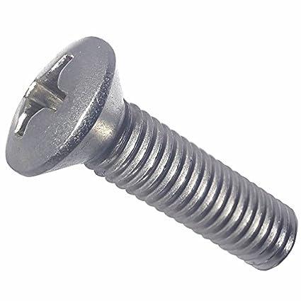 Stainless Steel 18-8 Quantity 100 by Fastenere Bright Finish Machine Thread Full Thread Phillips Drive 1//4-20 x 5//8 Flat Head Machine Screws