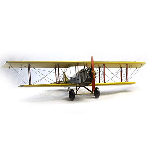 VJUKUBWINE Antique World War I Yellow Curtis Jane Plane - Fine Edition Model Tinplate Hand Made Retro Iron Art Home Car Decoration Decoration Arrangement Photography Props 6846.516cm by VJUKUBWINE (Image #5)