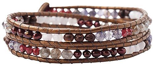 Chan Luu Women's Double Wrap Bracelet Iolite Mix One Size