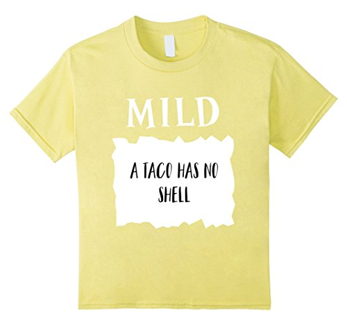 Procrastinator Halloween Costumes (Kids Taco Mild Hot Sauce A Taco Has No Shell Halloween Costume 10)