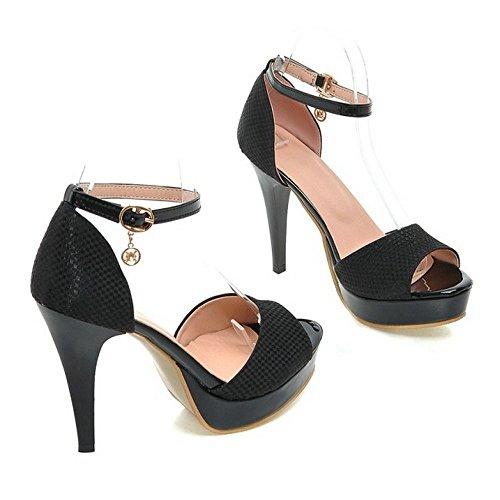 Coolcept Vrouwen Sexy Stiletto Sandalen Platform Bruiloft Hoge Hak Pumps Schoenen Zwart