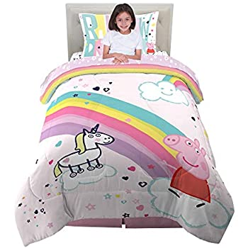 Amazon Com Peppa Pig Quot Cute Quot 4 Piece Toddler Bedding Set