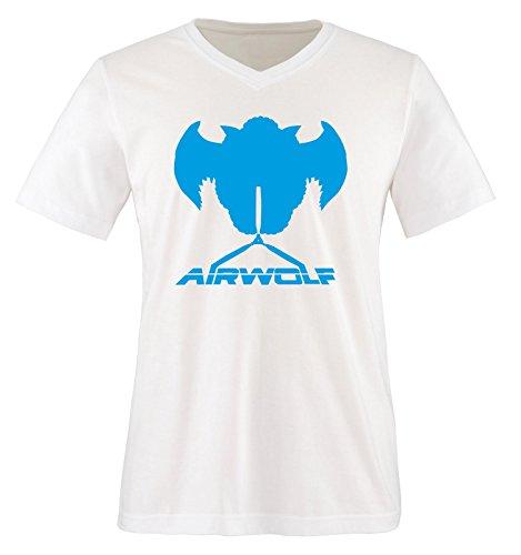 Air Uomo blu wolf shirt T Bianco corte Maniche Bianco qCw5z6