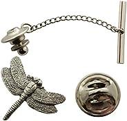 Sarah's Treats & Treasures Dragonfly Tie Tack ~ Antiqued Pewter ~ Tie Tac
