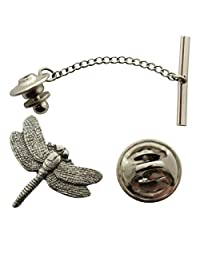 Dragonfly Tie Tack ~ Antiqued Pewter ~ Tie Tack or Pin ~ Sarah's Treats & Treasures
