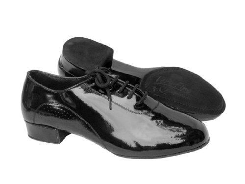 """Sehr feine Schuhe Herren Standard & Smooth Signature Serie S309 (Schwarzes Patent oder schwarzes Leder) Split Sohle mit Standard 1 """"Heel Schwarzes Patent"""