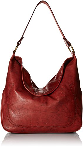 FRYE Campus Large Rivet Hobo, Burnt Red by FRYE