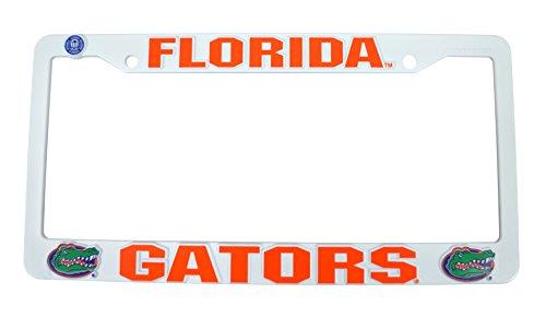 Official NCAA Fan Shop Authentic Plastic License Plate Frame (Florida Gators)
