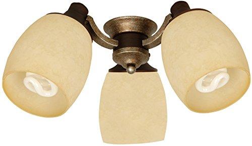 Craftmade LK47CFL-AG 3 Light Universal Fan Light Kit