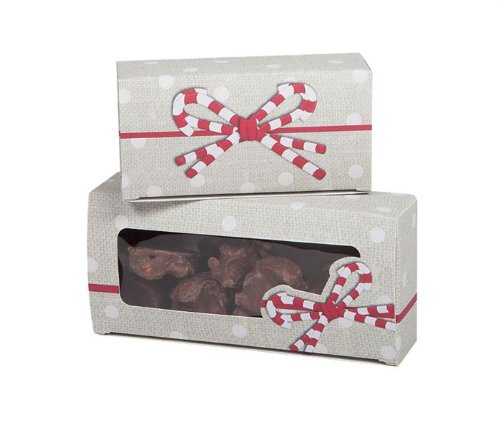 Holiday - Candy Ribbons - 1 lb Auto Bottom Box w Window- Case of 250