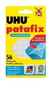 Uhu 48815 - Patafix - Banda adhesiva (56 unidades, doble cara, transparente)