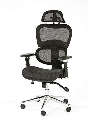 Özel-Versand - Silla de oficina ergonomica, color negro