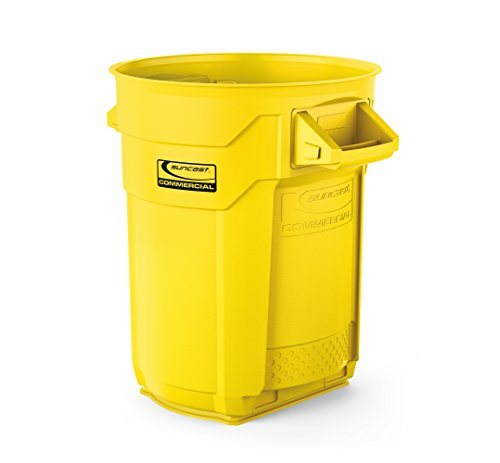 Suncast Commercial Utility Trash Can, 20 Gallon- Yellow