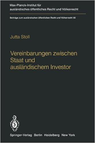 Vereinbarungen Zwischen Staat Und Auslndischem Investor