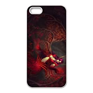iPhone 5 5s Cell Phone Case White Morgana League of Legends 005 LAJ7115441
