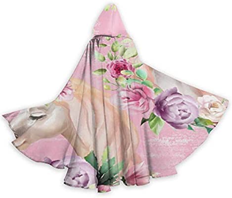 WYYWCY Capa Decorada con Flores de Unicornio con Capucha para ...