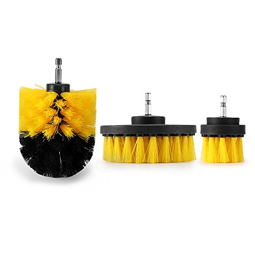 ONEVER 3PCS Drill Scrubber Brush Power Full Electric Bristle Bathtub Tile...