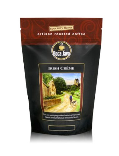 Decaf Irish Creme, Irish Cream Flavored Decaf Coffee, Whole Bean, 8oz (2 Pack) ()