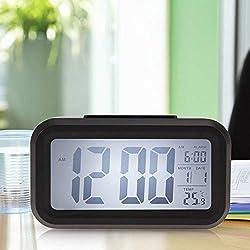 Time Date Alarm Clock Temperature Display LED Snooze Function Calendar Digital Clock
