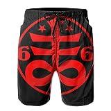 Men's Swim Trunks Goth Casual Sportswear Quick Dry Beach Shorts for Boys Summer White