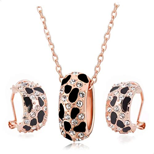 Mall Of Leopard Animal Print Jewelry Set Panther - Earrings Necklace Bracelet Bangle Evening Wear/Party/Wedding/Bride/Bridesmaid